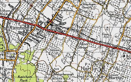 Old map of Moor Street in 1946