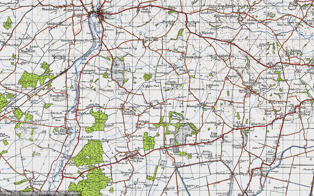 Old Map of Moorby, 1946 in 1946