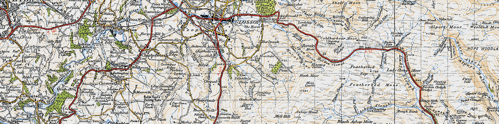 Old map of Whitethorn Clough in 1947