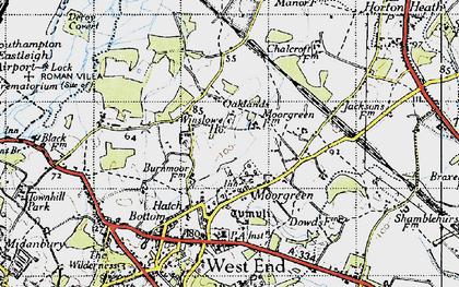 Old map of Winslowe Ho in 1945
