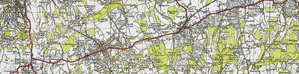 Old map of Titsey Wood in 1946