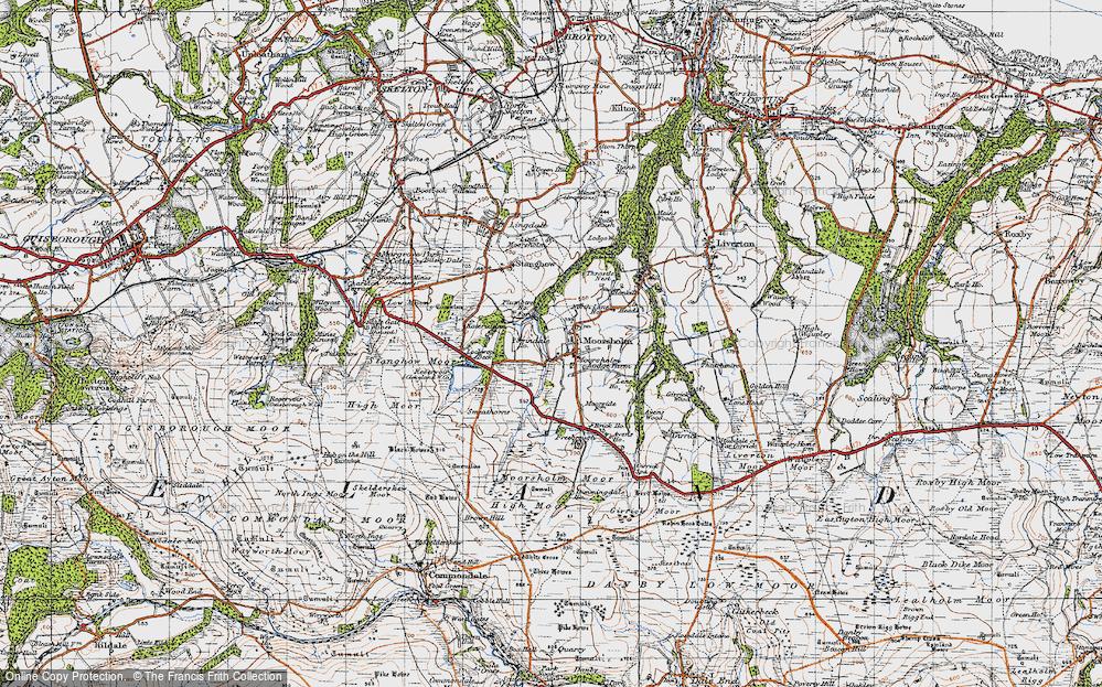 Old Map of Moorsholm, 1947 in 1947