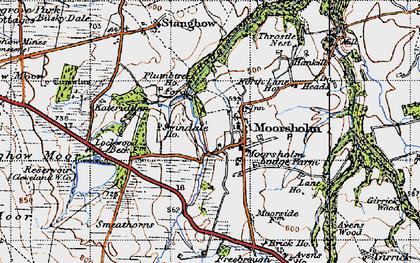 Old map of Moorsholm in 1947