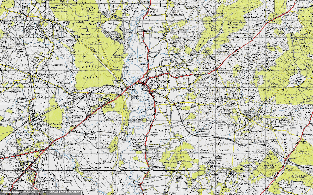 Old Map of Historic Map covering Avon Valley Path in 1940