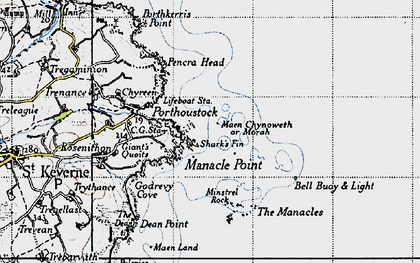 Old map of Morah in 1946