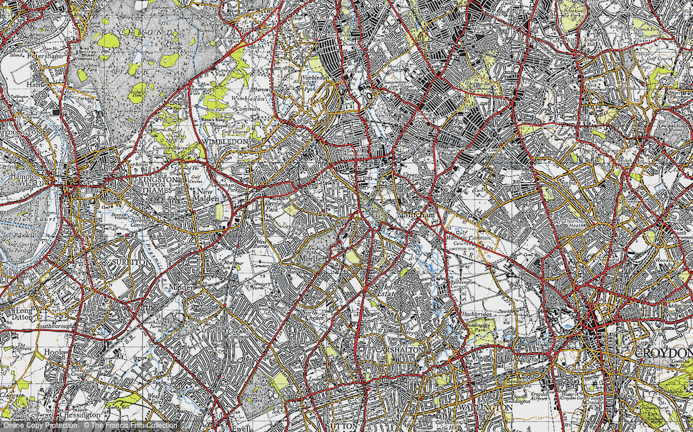 Old Map of Morden, 1945 in 1945