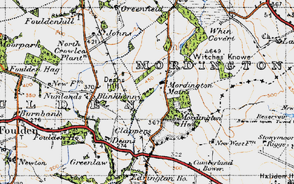 Old map of Witches' Knowe in 1947