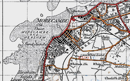 Old map of Morecambe in 1947