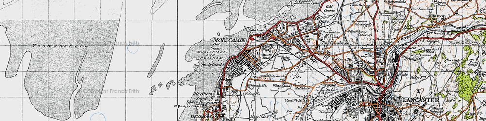 Old map of Whittam Ho in 1947