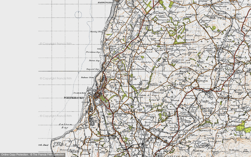 Old Map of Historic Map covering Abbey Flatts in 1947