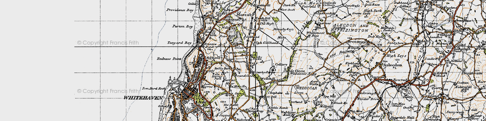 Old map of Moresby Parks in 1947