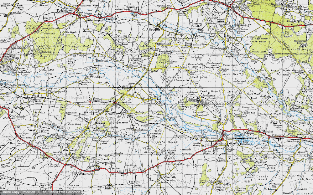 Old Map of Moreton, 1945 in 1945