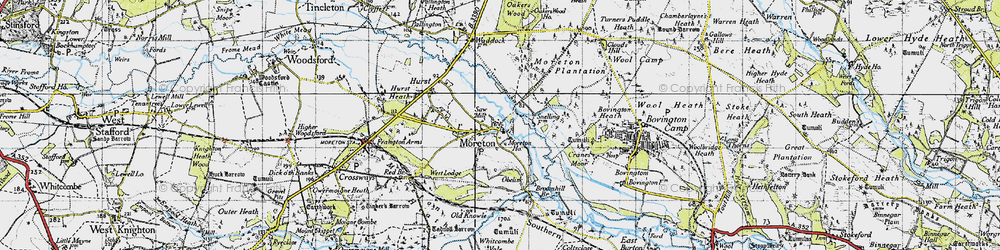 Old map of Moreton in 1945