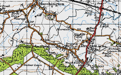 Old map of Banktop Wood in 1946