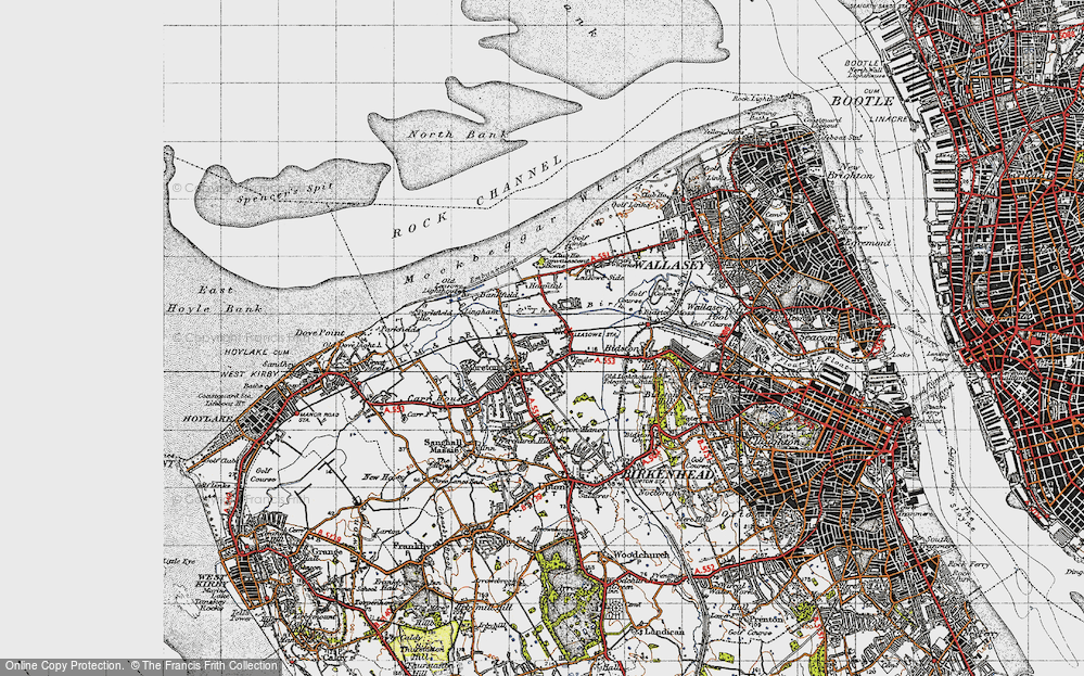 Old Map of Moreton, 1947 in 1947