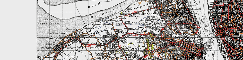 Old map of Moreton in 1947