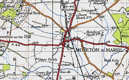 Old map of Moreton-in-Marsh in 1946