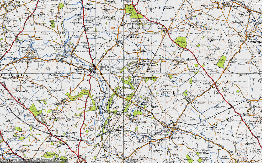 Old Map of Moreton Paddox, 1946 in 1946