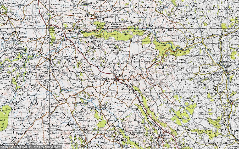 Old Map of Moretonhampstead, 1946 in 1946