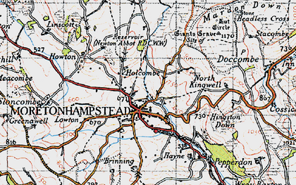 Old map of Willingstone in 1946