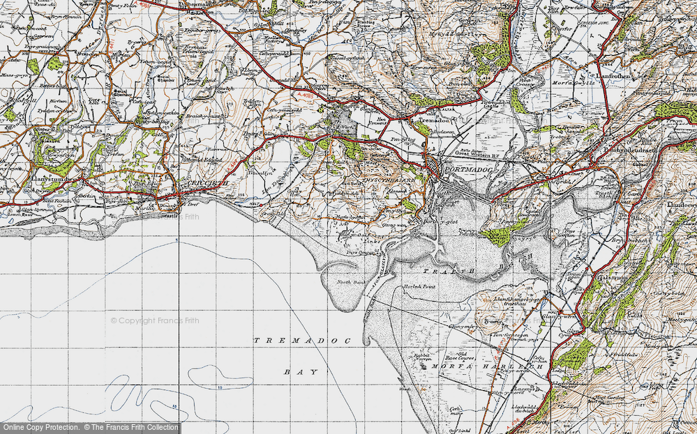 Old Map of Morfa Bychan, 1947 in 1947