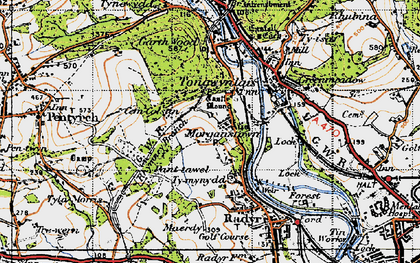 Old map of Morganstown in 1947