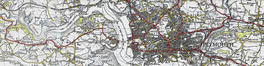 Old map of Morice Town in 1946