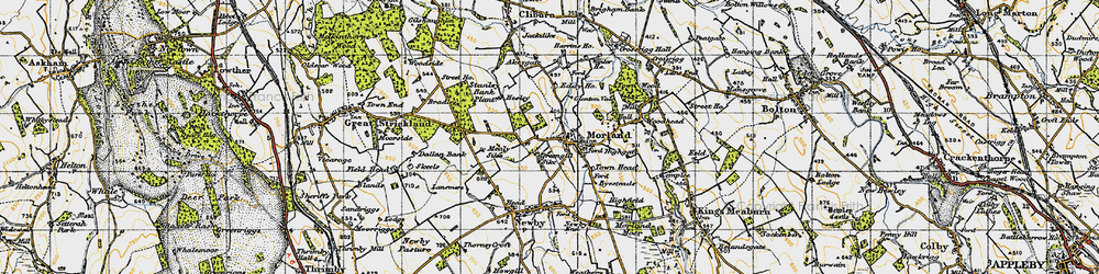 Old map of Akeygate in 1947