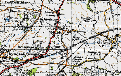 Old map of Morley in 1946
