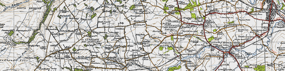 Old map of Wind Mill in 1947