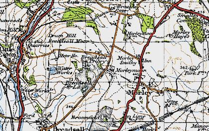 Old map of Morleymoor in 1946