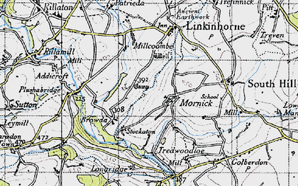 Old map of Mornick in 1946