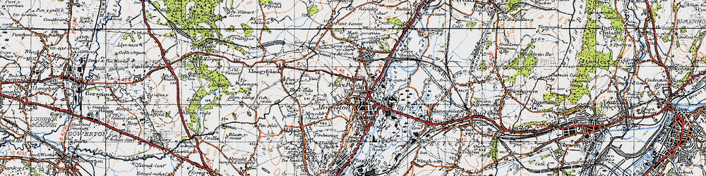 Old map of Morriston in 1947