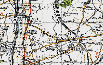 Old map of Morton in 1947