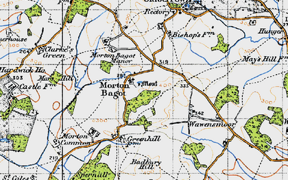 Old map of Bannam's Wood in 1947