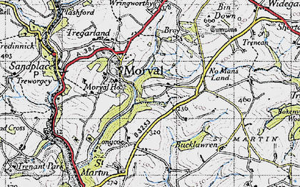 Old map of Morval in 1946