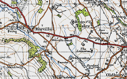 Old map of Tiddle Brook in 1947