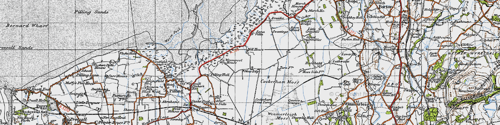 Old map of Wrampool Ho in 1947