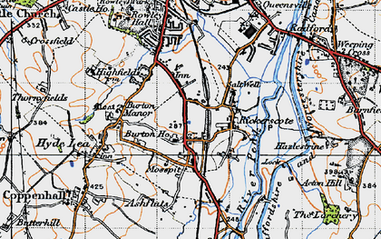 Old map of Ashflats in 1946