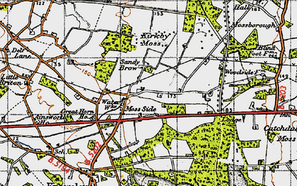Old map of Moss Side in 1947