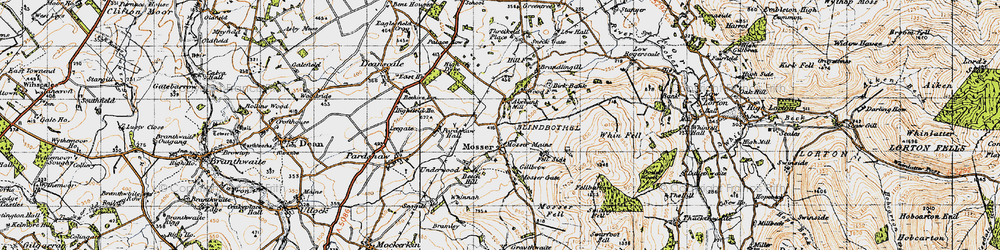 Old map of Akebank Mill in 1947
