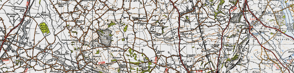 Old map of Wrightington in 1947