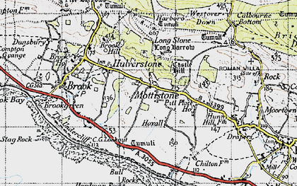 Old map of Westover Down in 1945