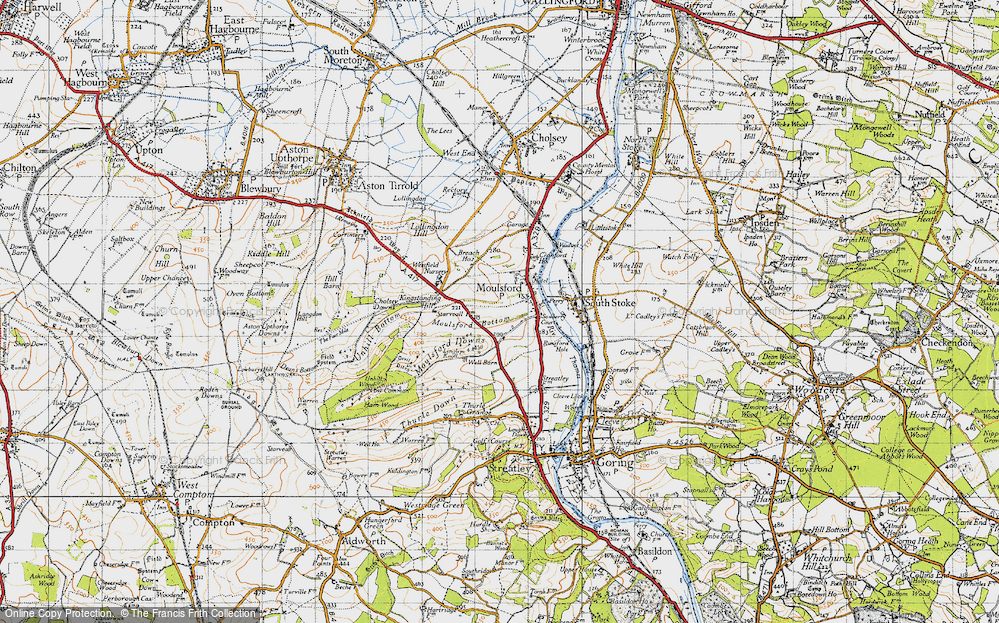 Old Map of Moulsford, 1947 in 1947