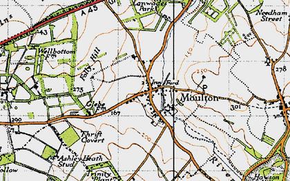 Old map of Ashley Heath Stud in 1946