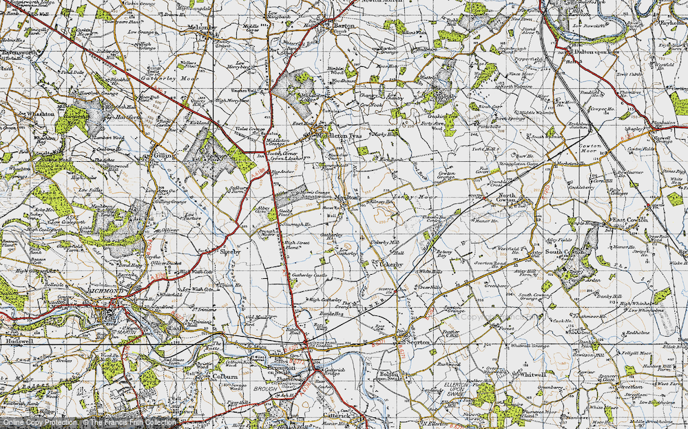 Old Map of Historic Map covering Abbey Close in 1947
