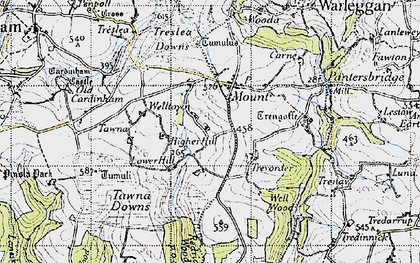 Old map of Mount in 1946