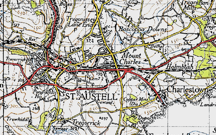 Old map of Mount Charles in 1946