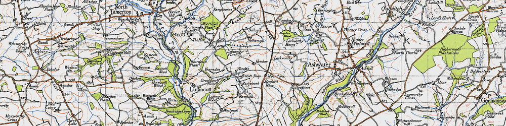 Old map of Yendon in 1946