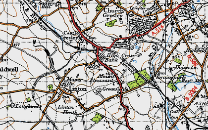 Old map of Mount Pleasant in 1946